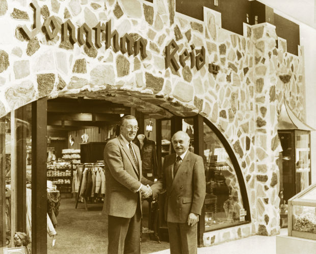 Jonathan Reid's original owner, Sonny Regan, in front of the store