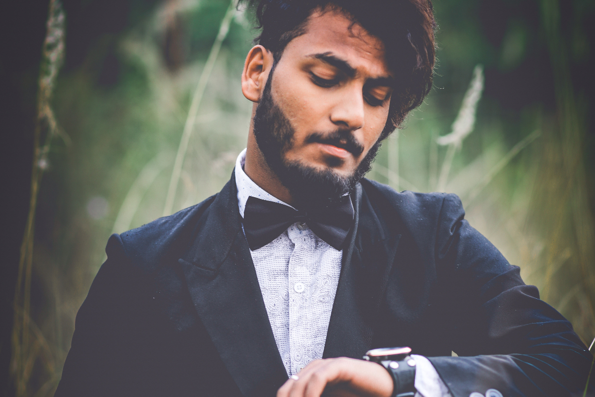 Man in suit and bowtie