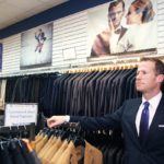 Owner Jeffrey Ives standing in the Jonathan Reid store